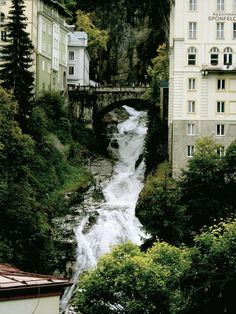 Bad Gastein, Austria.  We stayed at this hotel right next to the waterfall. Absolute beautiful view.
