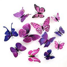 NEW-Vividly-3D-Butterfly-Wall-Sticker-Art-Design-Decal-Home-Decor-Xmas-Decor-CN