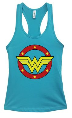 Womens Wonder Woman Grapahic Design Fitted Tank Top Funny Shirt Small / Lavender Workout Gear For Women Funny Tank Tops, Funny Shirts, Top Funny, Workout Gear For Women, New Tank, Workout Tank Tops, Racerback Tank, Wonder Woman, Fitness