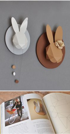 Paper animal heads by Chloe Fleury.