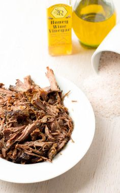 3 ingredient shredded beef in the crockpot