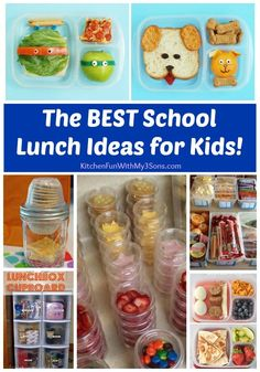 The BEST School Lunch Ideas for Kids - everything from food choices to organizing lunch ideas at home to make it easy on the Kids to pack their own lunches!