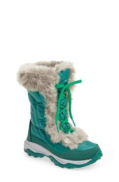 The North Face 'Nuptse Fur' Boot (Toddler, Little Kid & Big Kid) available at #Nordstrom