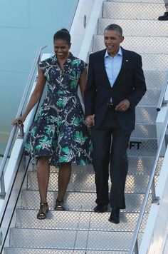 Michelle Obama Keeps Her Style Game in Check — on the Plane and Off