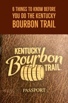 6 things to know before Kentucky Bourbon Trail Pin Bourbon Tour, Whiskey Tour, Scotch Whiskey, Bourbon Whiskey, Whisky, Travel Info, Travel Usa, Canada Travel, Travel Route