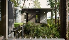Jim Olson expands tiny cabin he built 60 years ago in rural Washington Lillehammer, Ideas De Cabina, Garage Apartment Plans, Steel Columns, Modern Rustic Homes, Cedar Trees, Roof Structure, Kabine, Indoor Outdoor Living
