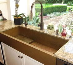 low window sill behind sink and counter