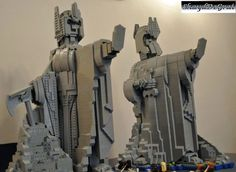 Lord of the Rings custom Lego - The Pillars of the Kings by ShaydDeGrai