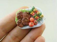 Resultado de imagen para comida en miniatura de verdad