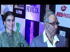 Kajol with father-in-law Veeru Devgan at ZEE CINE AWARDS 2016 red carpet.