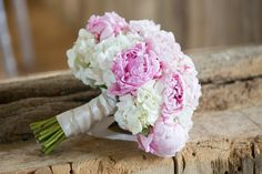 Peony & hydrangea summer bouquet. Image by Juliet Lemon Photography.