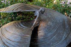 Sculpture of modern dance pioneer Loie Fuller at Brookgreen Gardens, S.C.