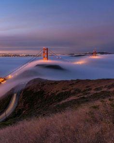 Golden Gate Bridge by @bruceGetty #sanfrancisco #sf #bayarea #alwayssf #goldengatebridge #goldengate #alcatraz #california