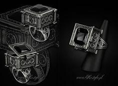 Gothic 'Sarcophagus Ring' designed by me for www.Restyle.pl #gothic #goth #victorian #steampunk #jewelry #fashion #skull #rose #iron gate #cat skull #bat skull #moth #vampire #aristocrat #gothic lolita #lolita #elegant gothic aristocrat #gothicjewelry #gothjewelry #darkjewelry #horrorjewelry