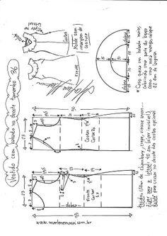 Sewing Blusas Blusa regata com gola boneca - Bricolaje - molde, corte y costura - Marlene Mukai - Visite o post para mais. Sewing Clothes Women, Baby Clothes Patterns, Dress Sewing Patterns, Blouse Patterns, Sewing Patterns Free, Sewing Tutorials, Clothing Patterns, Diy Clothes, Free Pattern