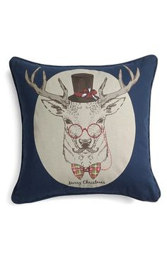 Free shipping and returns on Levtex 'Proper Reindeer' Accent Pillow at Nordstrom.com. A mustachioed reindeer—dressed to the nines in top hat, bow tie and spectacles—lends a certain gravitas to an utterly charming accent pillow printed with a subtle Christmas greeting.