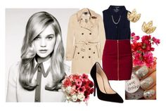 """8M3"" by misscriss ❤ liked on Polyvore featuring Forever 21, Burberry, Jeane Blush and Giuseppe Zanotti"