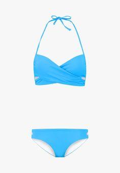 TWINTIP SET - Bikini - turquoise - Zalando.at Baby Tv Show, Models, String Bikinis, Tv Shows, Turquoise, Swimwear, Fashion, Fabrics, G Strings