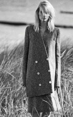 TWEED Skirt Suit (wool, angora) with Long, Oversized, Asymmetrical Jacket - Sonia Rykiel