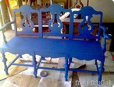 How To Make A Bench From Old Chairs? -
