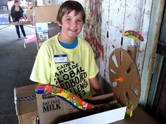OddBallKidFun: Global Cardboard Challenge At Caine's Arcade