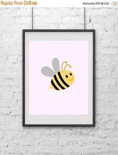 20%off Bee Nursery Print Nursey Print Art Print Print Art