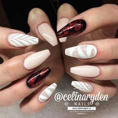 I don't like the red nails but I love the designs