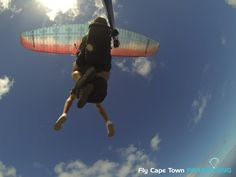 Tandem Paragliding with Fly Cape Town offers you the opportunity to see Cape Town from another angle. Sky View, Paragliding, Tandem, Cape Town, Fighter Jets, Tandem Bikes, Hunting, Tandem Bicycle