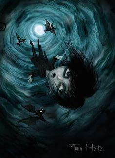 """Falling With Bats"" by THZ.deviantart.com on @deviantART"
