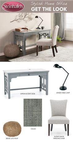 Joplin Grey Accent Desk. Office SeatingWork ...