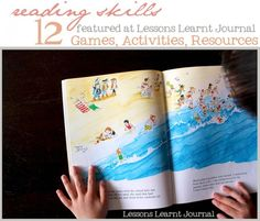 Can't wait to try these with my kids. 12 helpful reading games, activities and resources for kids ages 5 - 8.
