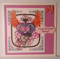 Happy Birthday Sister card. £3.00 posted.