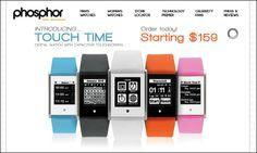 デザインをタッチスクリーンで変更可能・計算機などを備え水深30m対応の多機能腕時計「TOUCH TIME」 - GIGAZINE