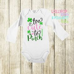 Too cute to pinch  Size 0/3 M - 8 yrs  Short sleeve $25  Long Sleeve $28  www.facebook.com/lollistripespolkadots Custom Embroidered Shirts, Custom Embroidery, Cake Sizes, Baby Shirts, Little Miss, Boy Outfits, Give It To Me, Polka Dots, Shorts