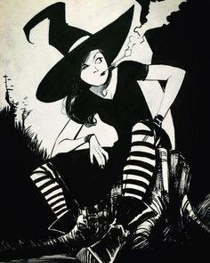 Resultado de imagem para witch drawing