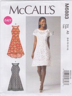 McCalls Pattern 6883 Dress Sized to Fit My Size Barbie Clothing Patterns, Dress Patterns, Pattern Dress, My Size Barbie, Mccalls Sewing Patterns, Miss Dress, Fashion Catalogue, Plus Dresses, Sewing Hacks