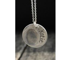 Finger Print Necklace---want one of these when my little peanut gets here (Clayful Impressions in Brandon)