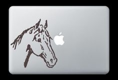 Horse Head Decal Sticker for Apple Mac Book Air/Pro Dell Laptop Vintage