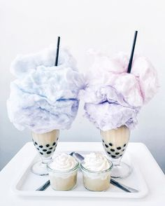 WEBSTA @ lichipan - Bubble tea bonanza .. Who'd you share these with? Spent the weekend making these ombré cotton candy floats with my favourite @natehunt