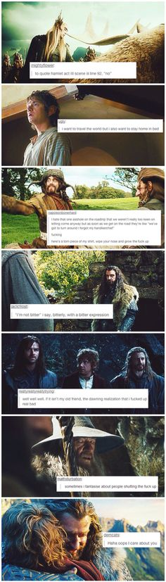 Hobbit + text posts << I'm quickly becoming obsessed with these things.