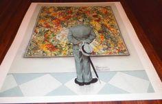 Beautiful Calendar Art Print Norman Rockwell Man Looking At Artwork