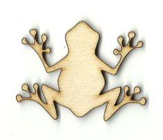 Frog Unfinished Laser Cut Wood Shape FRG1