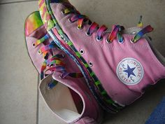 Rainbow Converse High Tops