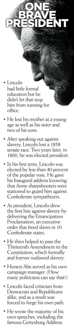 We find so much inspiration in the legacy of the sixteenth president of the United States. #history #AbrahamLincoln