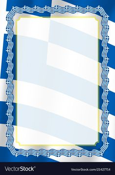 Frame and border of ribbon with greece flag vector image on VectorStock Flag Template, Templates, Greece Flag, Flag Vector, Dinner Parties, Adobe Illustrator, Certificate, Vector Free, Ribbon