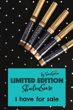 If you are looking for SeneGence ShadowSense Limited Edition colors - the ones I still have on hand are listed here.  Click thru to see which ones.  #shadowsense #senegence #limitededitioncolors
