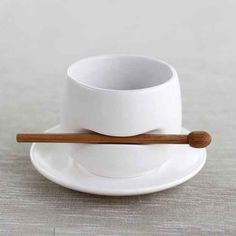 A most adorable mug with a built-in stirrer.