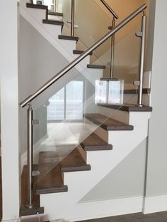 100 Best Glass Railing For Stairs Glass Enclosures Images In   Stairs Railing Designs In Steel With Glass   Balcony   Wooden   Modern   Guardrail   Stainless Steel