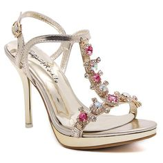 Sweet Women's Sandals With Rhinestones and Buckle Strap Design