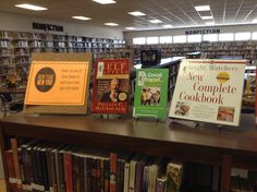 New Year, New You display with books about healthy relationships, diet, exercise, and hair and makeup. WHS Library, Wynne, Arkansas.